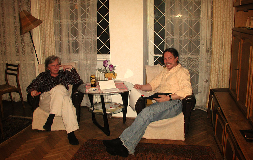 Prof Zbigniew Raś and Dr Rory Lewis Warsaw June 17 2005